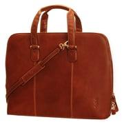 Tony Perotti Italico Classic Ladies 17'' Zip-Around Laptop Tote Bag; Red