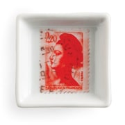 Rosanna Voyage Red Stamp Square Serving Tray