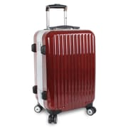 J World Titan 20'' Hardsided Spinner Suitcase; Red