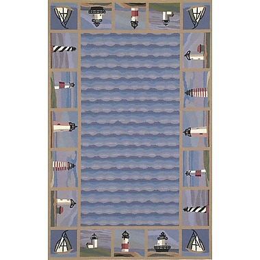 KAS Rugs Colonial Lighthouse Nautical Novelty Rug; Round 7'6''