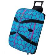 Wildkin Good Times Big Dots Rolling Duffel Bag; Aqua