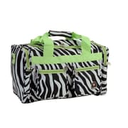 Rockland 19'' Carry-On Duffel; Lime Zebra