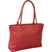 Le Donne Leather Women's Laptop Tote Bag; Red