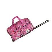 Rockland 22'' Travel Duffel with Shoulder Strap; Pink Vegas