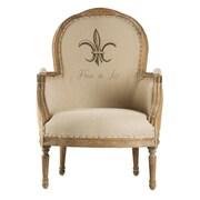 Zentique Inc. Lance Burlap Fabric Arm Chair