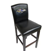 Imperial NFL Bar Stool with Cushion (Set of 2); Baltimore Ravens