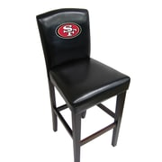 Imperial NFL Bar Stool with Cushion (Set of 2); San Francisco 49ers