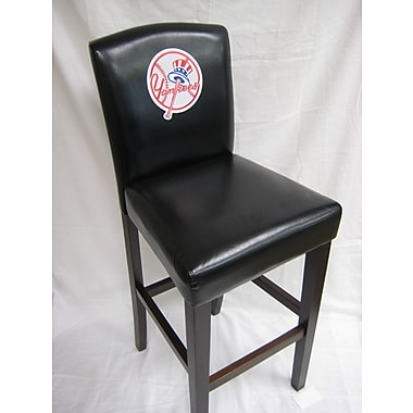 Imperial MLB Bar Stool with Cushion (Set of 2); New York Yankees