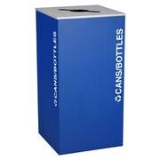 Ex-Cell Metal Products Kaleidoscope XL Series 36-Gal Indoor Industrial Recycling Bin