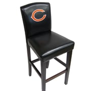 Imperial NFL 24'' Bar Stool with Cushion (Set of 2); Chicago Bears