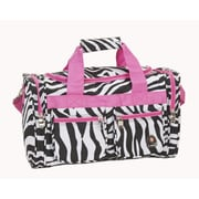 Rockland 19'' Carry-On Duffel; Pink Zebra