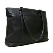 Le Donne Leather Women's Laptop Tote Bag; Black