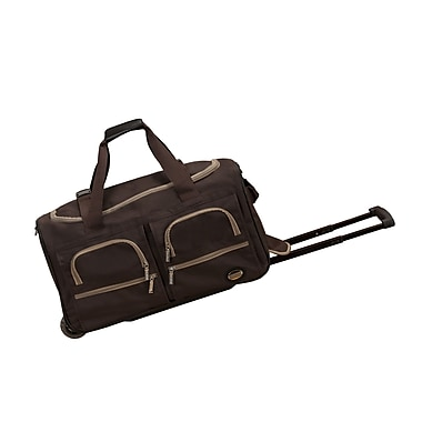 Rockland 22'' Travel Duffel with Shoulder Strap; Brown