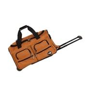 Rockland 22'' Travel Duffel with Shoulder Strap; Orange
