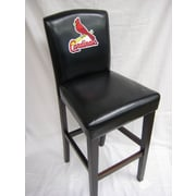 Imperial MLB 24'' Bar Stool with Cushion (Set of 2); St. Louis Cardinals