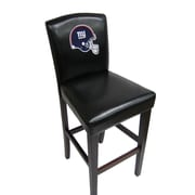 Imperial NFL Bar Stool with Cushion (Set of 2); New York Giants