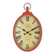 Creative Co-Op Casual Country Oversized 27'' Pocket Watch Wall Clock