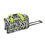Rockland 22'' Travel Duffel with Shoulder Strap; Lime Zebra