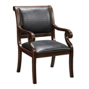 Coast to Coast Imports Leather Arm Chair in Brown