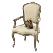 Design Toscano The Carlisle Louis XV Open Twill Arm Chair
