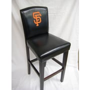 Imperial MLB 24'' Bar Stool with Cushion (Set of 2); San Francisco Giants