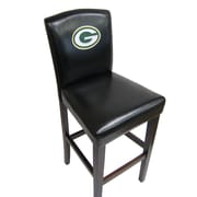 Imperial NFL Bar Stool with Cushion (Set of 2); Green Bay Packers