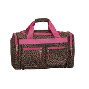 Rockland 19'' Carry-On Duffel; Pink Leopard