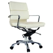 Creative Images International Murphy Low Back Leatherette Padded Office Chair w/Chrome Base; Black