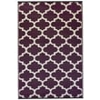 Fab Rugs World Tangier Plum/White Indoor/Outdoor Area Rug; 4' x 6'