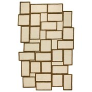 GAN RUGS Hand Tufted Books Ivory Geometric Area Rug; 6'8'' x 9'10''