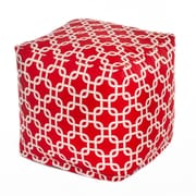 OC Fun Saks Links Bean Bag Cube; Red