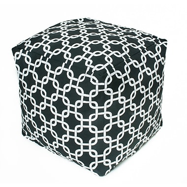 OC Fun Saks Links Bean Bag Cube; Black