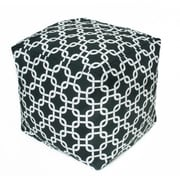 OC Fun Saks Links Bean Bag Cube; Black