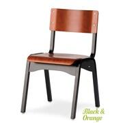 Holsag Carlo Armless Stacking Chair; Heritage Walnut