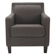 Safavieh Lucy Arm Chair; Charcoal Brown