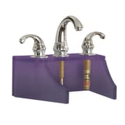 DecoLav Drains and Accessories Frosted Glass Faucet Stand; Violet