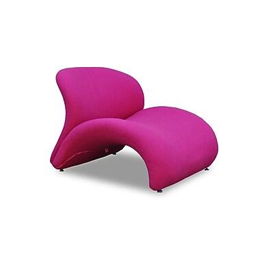Ceets Sweet Lip Lounge Chair; Fuchsia