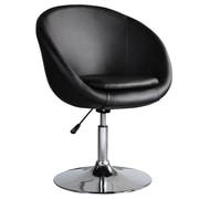 Ceets Barrel Adjustable Leisure Side Chair; Black