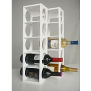 Proman Rutherford 5 Bottle Tabletop Wine Rack (Set of 2); White