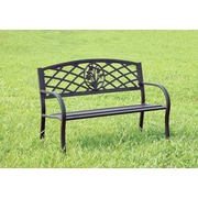 Hokku Designs Sunny Perennial Outdoor Metal Bench