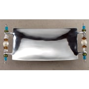 St. Croix Kindwer Beaded Rectangle Serving Tray