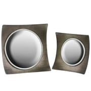 Urban Trends 2 Piece Concave Square Wall Mirror Set