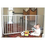 Cardinal Gates Extendable Gate; White