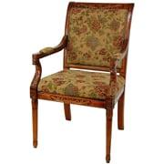 Oriental Furniture Queen Victoria Fabric Arm Chair