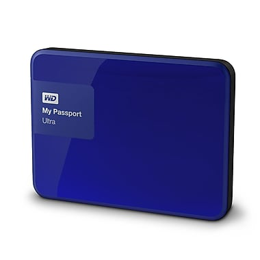 WD My Passport Ultra 2TB Portable External Hard Drive, Noble Blue
