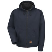 Red Kap  Unisex Blended Duck Zip-Front Hooded Jacket RG x S, Navy duck
