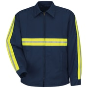 Red Kap® Men's Enhanced Visibility Perma-Lined Panel Jacket (JT50ENLNL)