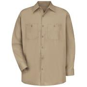 Red Kap Men's Cotton Work Shirt LN x 3XL, Khaki