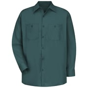 Red Kap Men's Cotton Work Shirt LN x 3XL, Spruce green