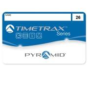 Pyramid™ – Cartes magnétiques pour le système de présences et horodateur à lecture magnétique TimeTrax 41303, nº 26 à 50